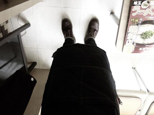 barber エプロン デニム生地
