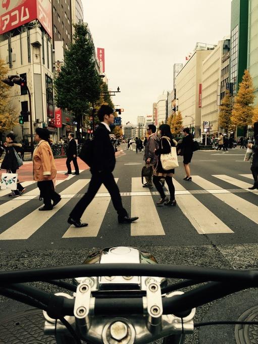 東京 ハトバス RUN バイク ツーリング SR