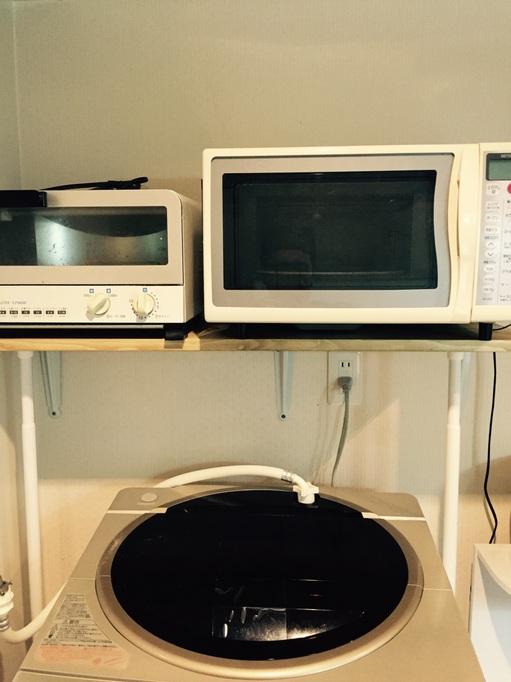 板 SPF 2×4 アンティークワックス 棚 レンジ オーブン DIY