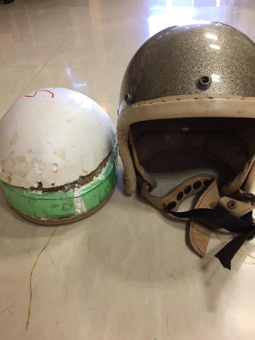 ヘルメットリペア 埼玉 大宮 さいたま市 バイク 目深 カスタム DIY