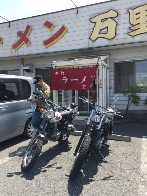 万里 佐野ラーメン ツーリング バイク