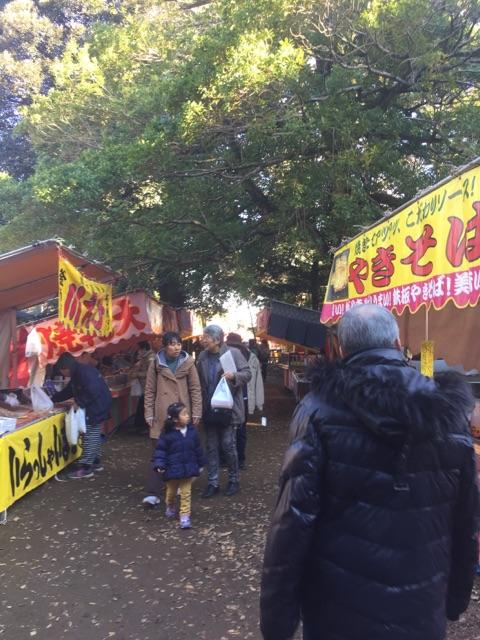秋葉神社 祭り 出店 冬