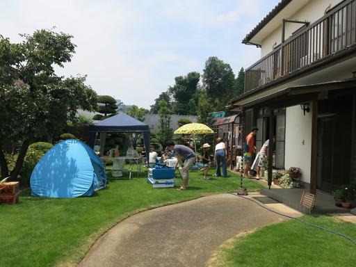 海の日 BBQ 大宮 自宅 庭 コンロ カセットボンベ 豪族