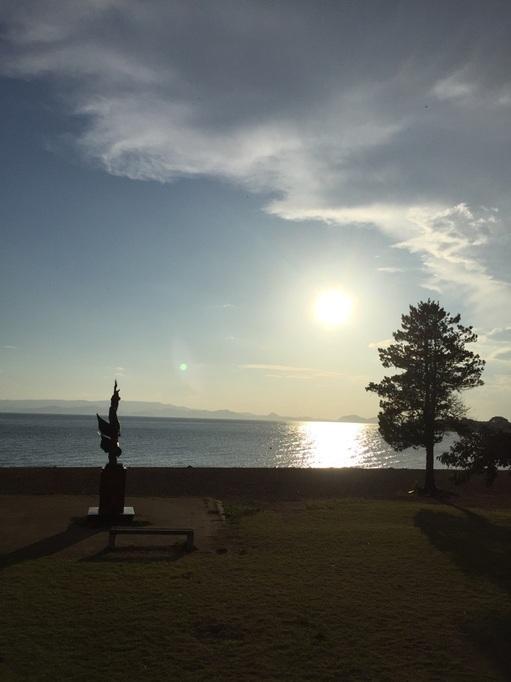 猪苗代湖 湖水浴 サンセット  志田浜 子供 家族 ファミリー